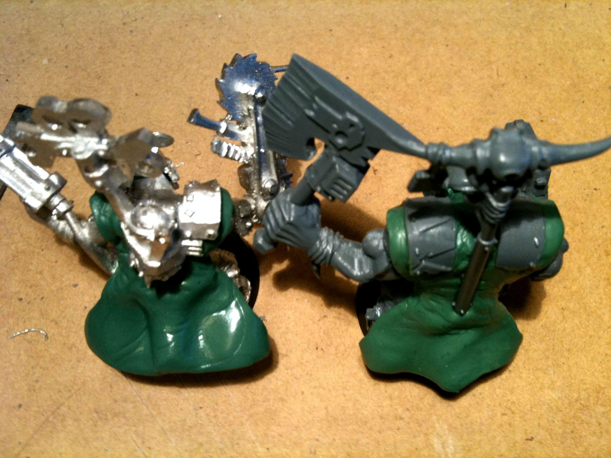 Bosspole, Da Dark Angelz, Nob, Orks, Painboy, Work In Progress