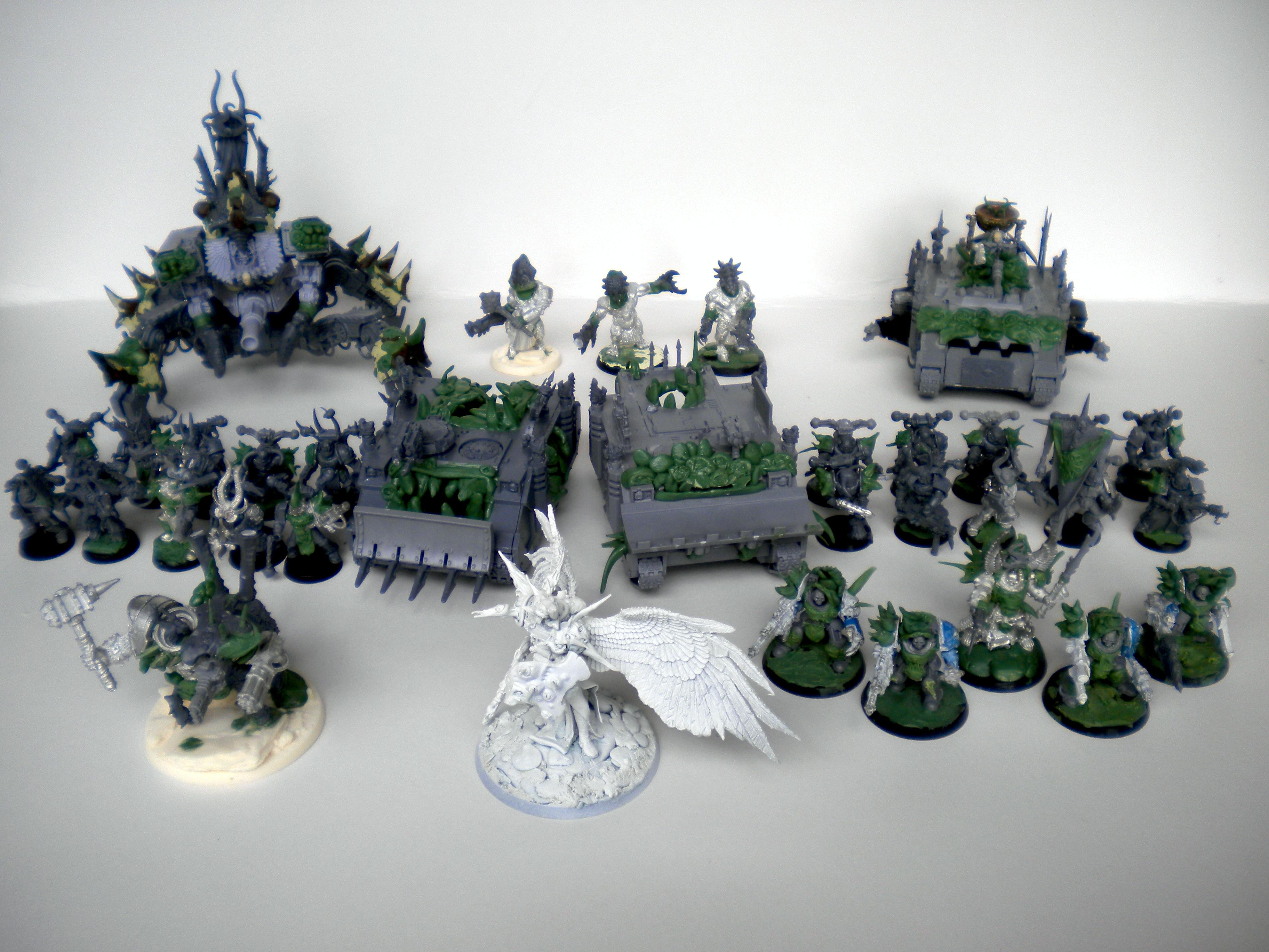 Bio Mechanical, Chaos, Chaos Army, Chaos Rhino, Chaos Space Marines, Conversion, Daemon Prince, Defiler, Nurgle, Nurgle Army, Painted Chaos, Plague Marines, Thousand Sons, Tzeentch