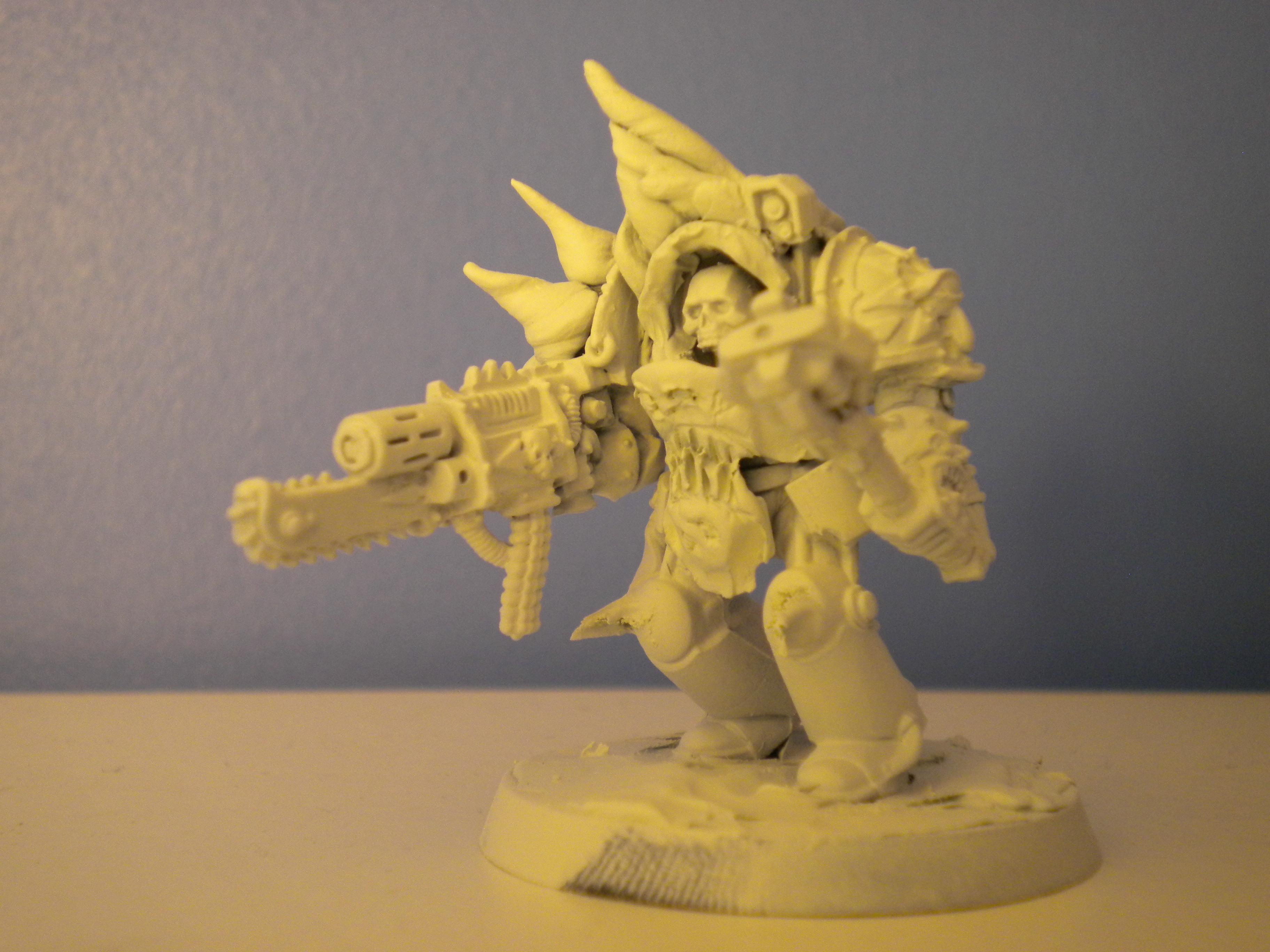 Bio Mechanical, Chaos, Chaos Space Marines, Conversion, Nurgle, Thousand Sons, Tzeentch