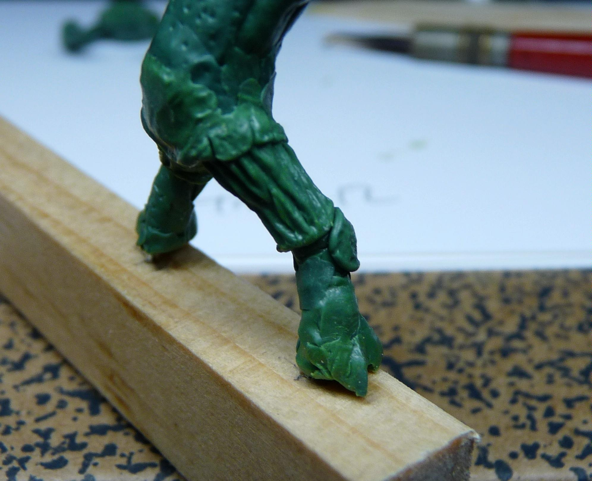 Ambull, Greenstuff, Rogue Trader, Sculpting
