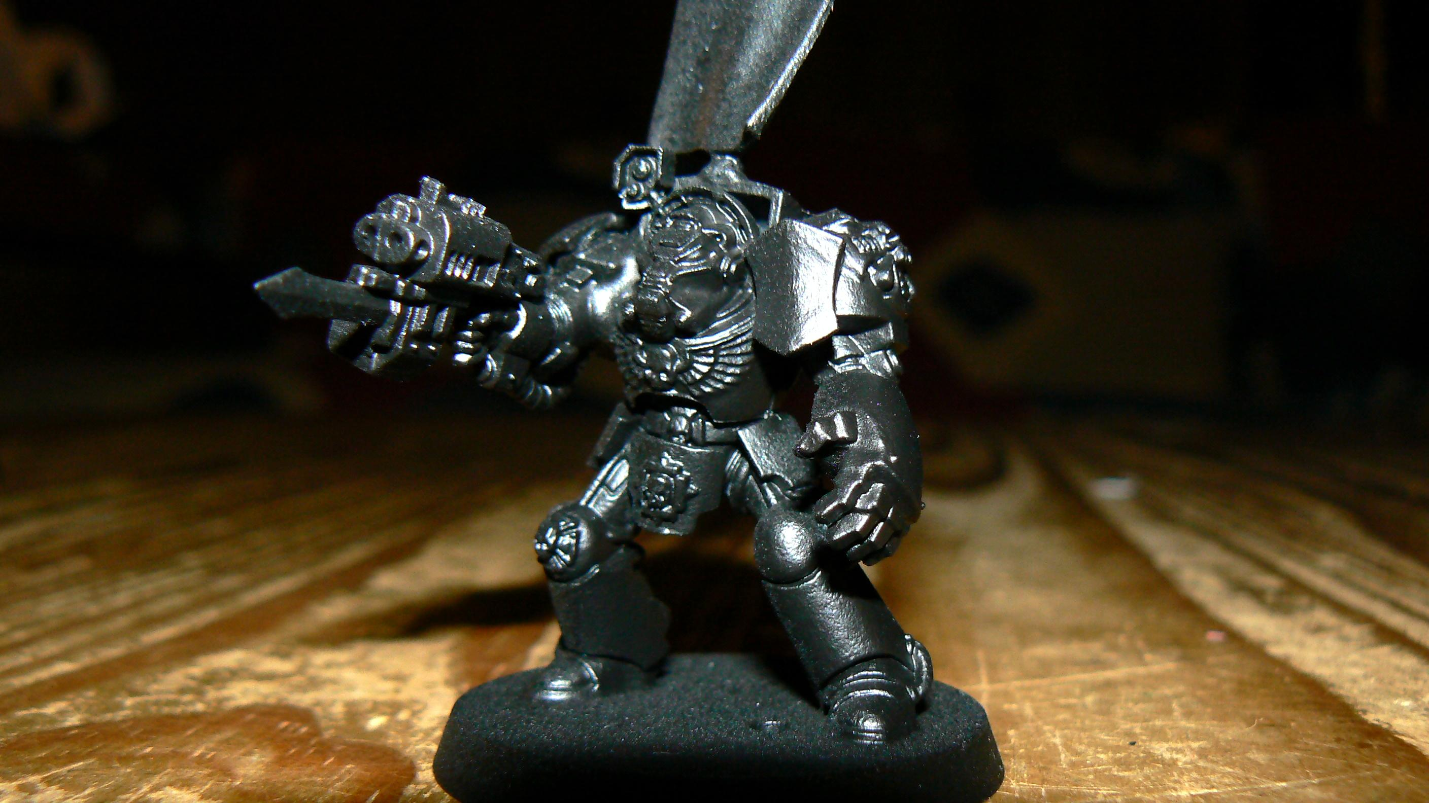 Banner, Dark Angels, Deathwing, Peacemakers, Penitent Avengers, Primered, Storm Bolter, Terminator Armor