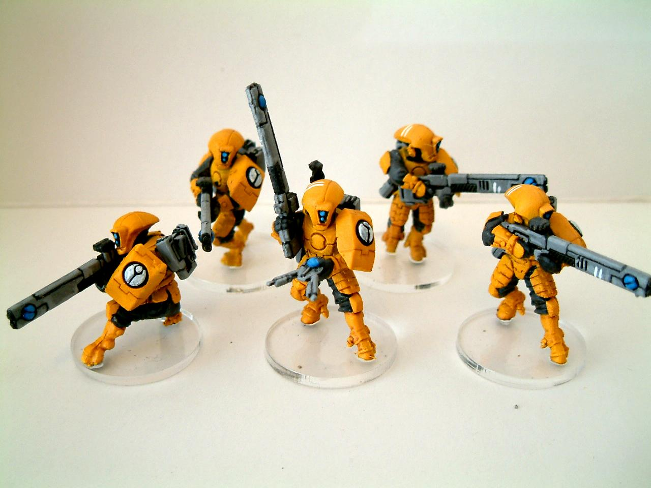 Acrylic, Bright, Clear Base, Fire Warriors, Tau, Warhammer 40,000, Yellow