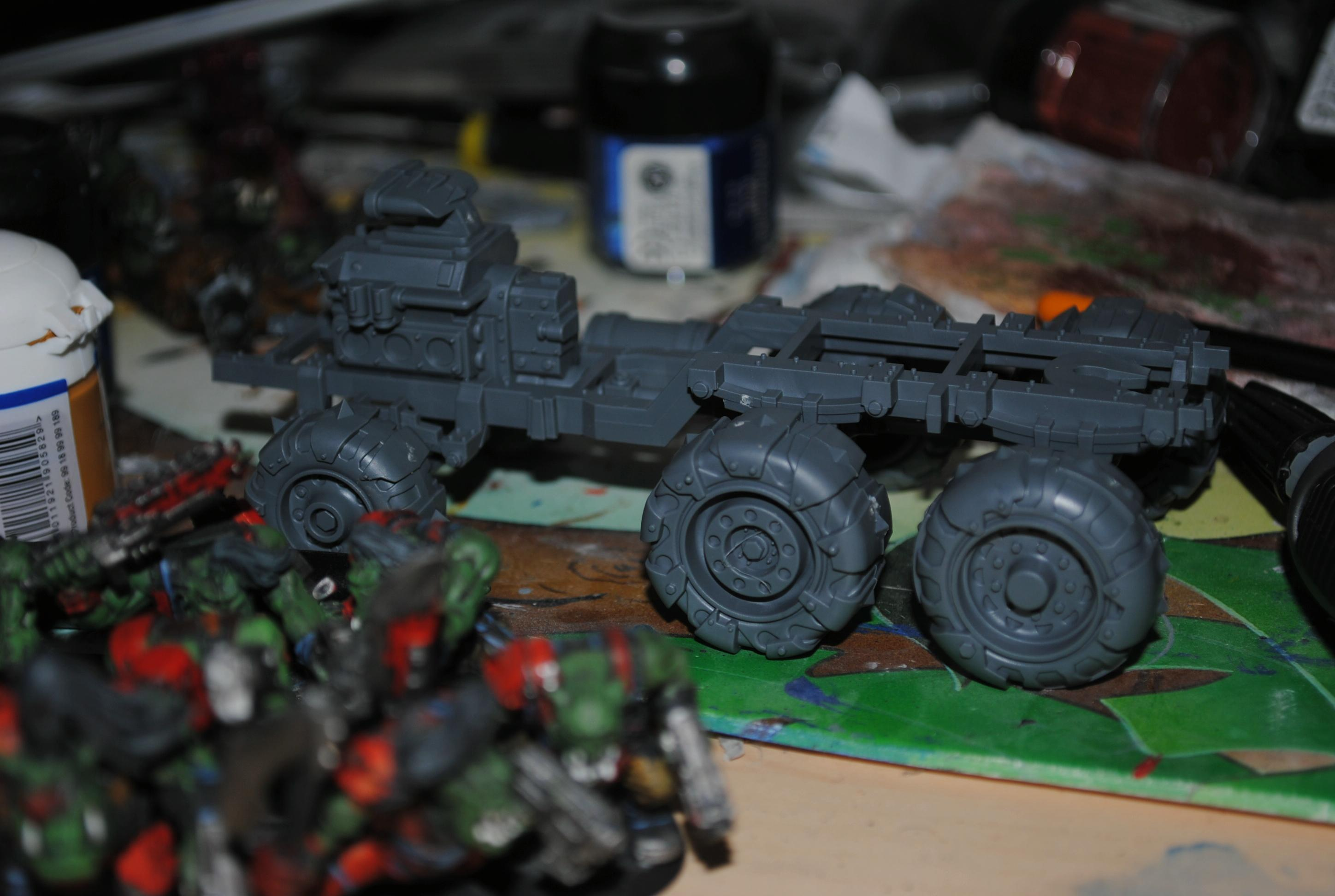 Trukk on my desk, orks in front and whatever else you care to spot