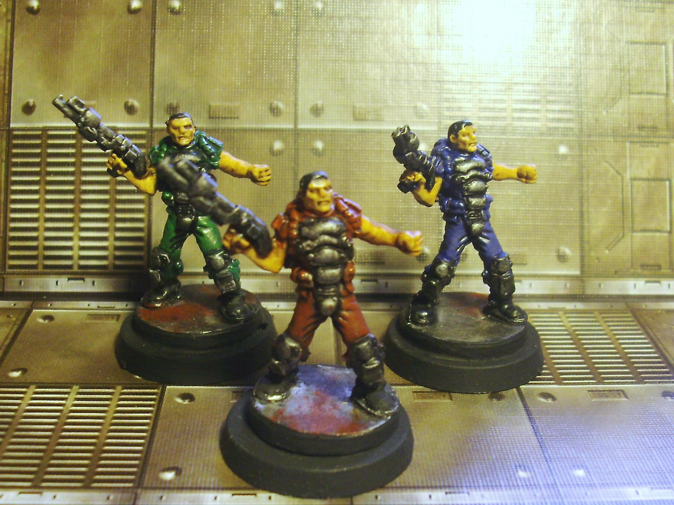 Doom, Semi-related: Doomguys Red, blue, and green!