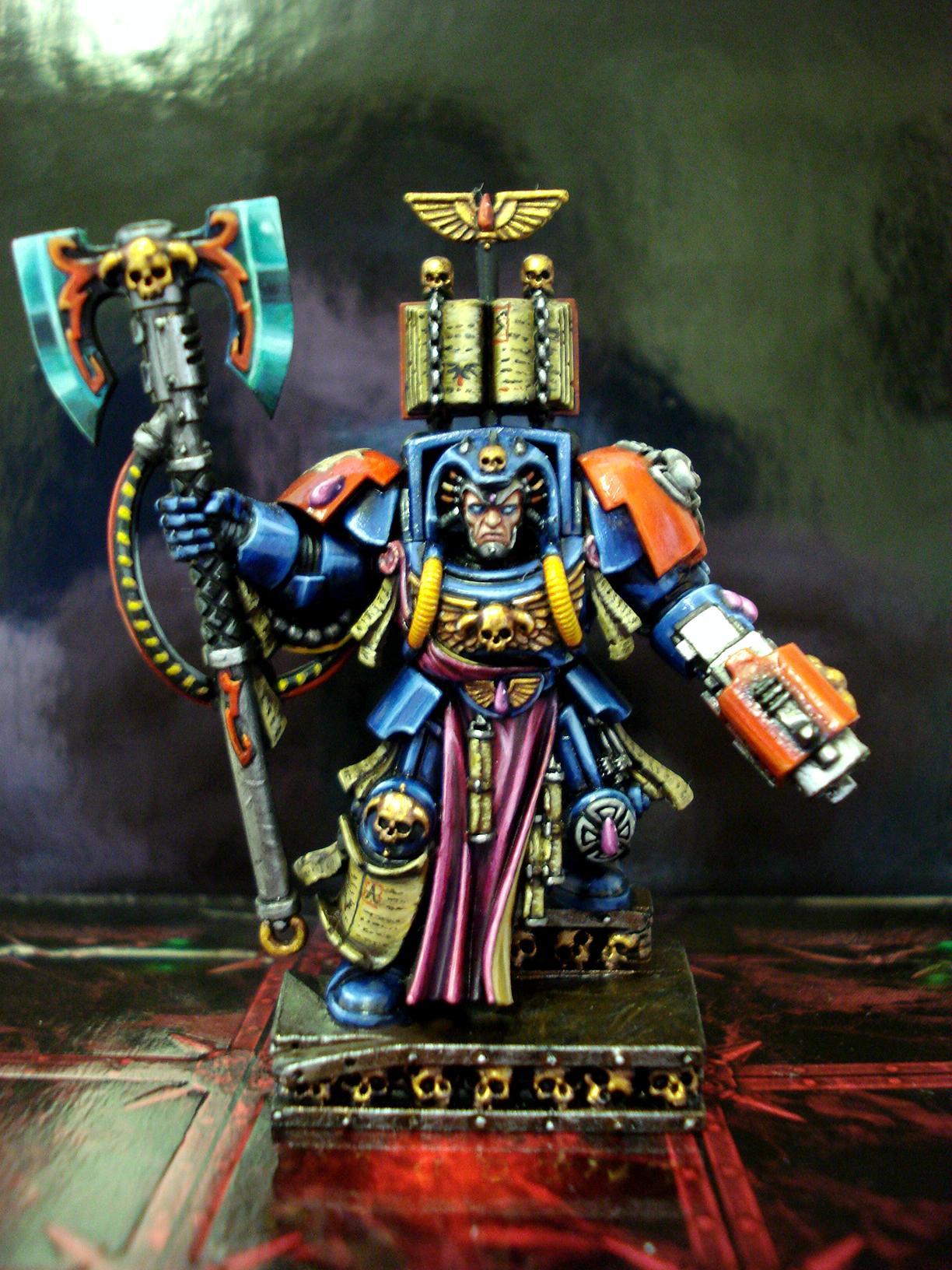 Blood Angels, Games Workshop, Librarian, Space Hulk Terminator Armour, Space Marines, Terminator Armor, Warhammer 40,000