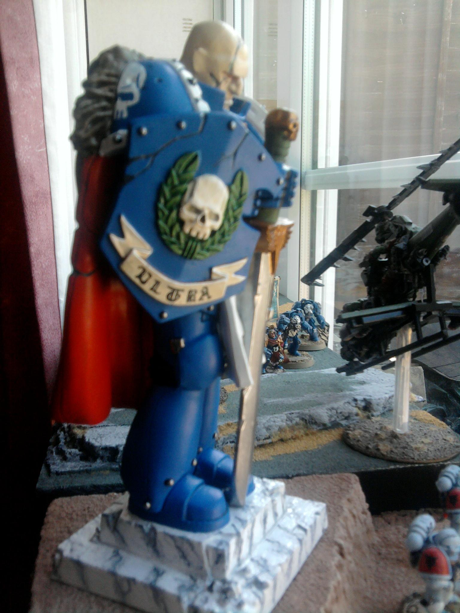 Adeptus Astartes, Honoured Imperium, Power Armour, Space Marines, Statue, Ultramarines