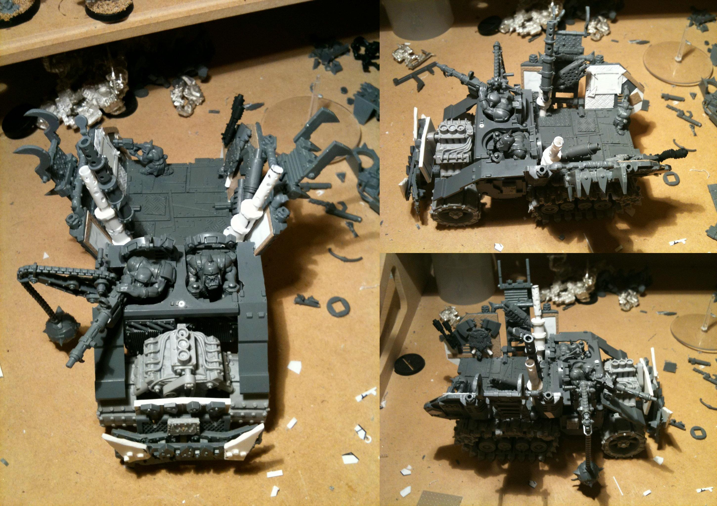 Da Dark Angelz, Orks, Trukk, Work In Progress