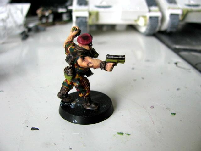 3rd, Belgium, Camouflage, Conversion, Darkon, Imperial Guard, Sergeant, Veteran, Warhammer 40,000, Work In Progress