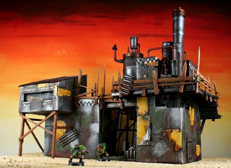 Metal, Orks, Scrap, Scratch Build, Space Ork, Terrain