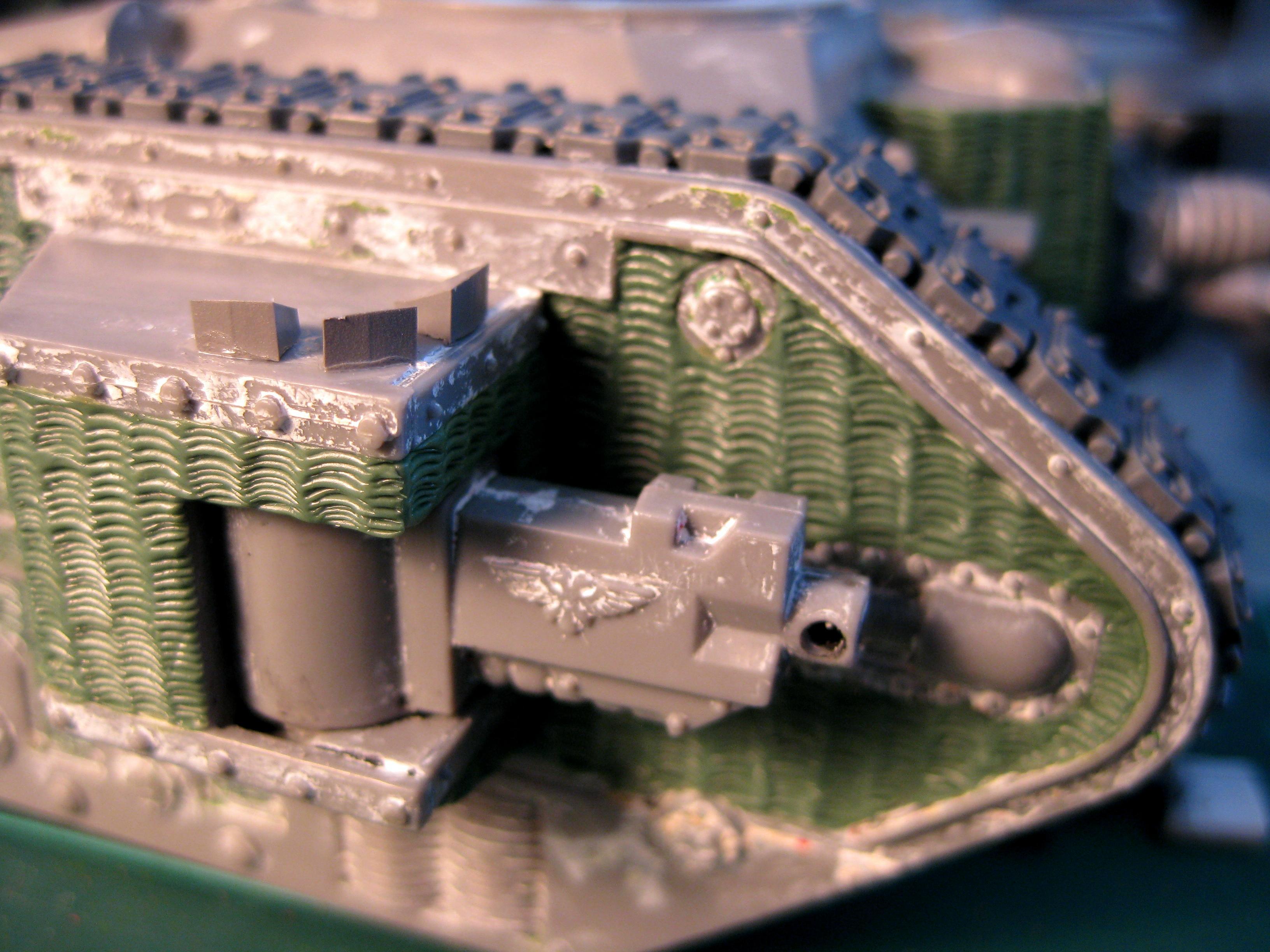 Death Korps of Krieg, Imperial Guard, Tank, Work In Progress, Zimmerit