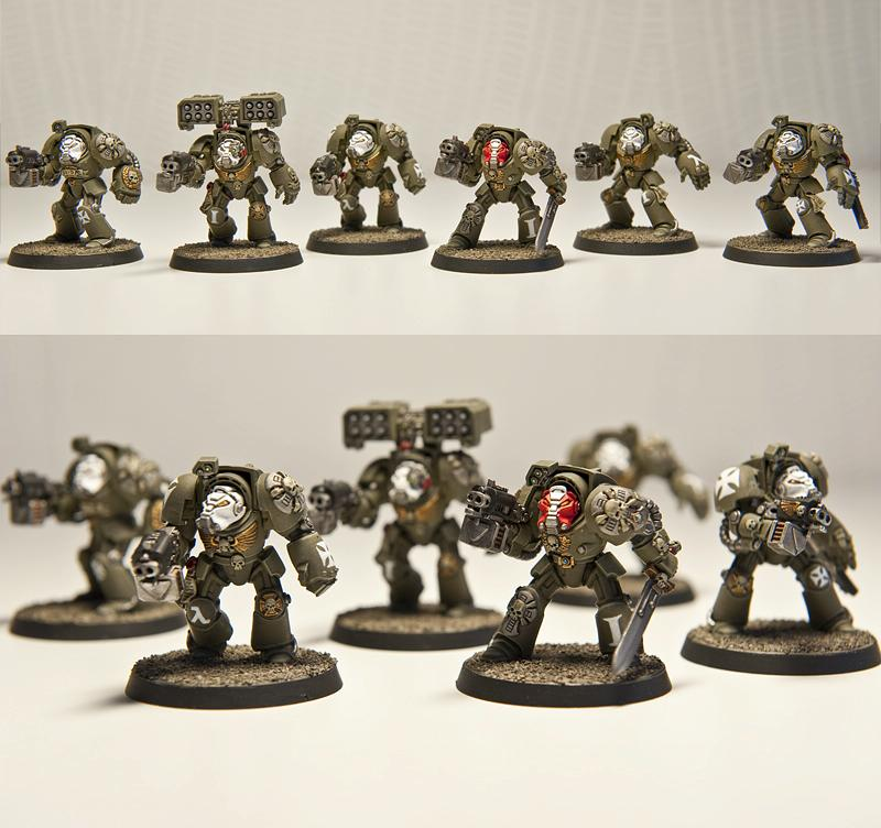 Custom Chapter, Cyclone Missile Launcher, Space Marines, Terminator Armor