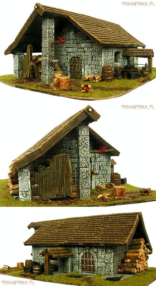 Buildings, House, Mordheim, Stone, Terrain, Timber, Village, Wall, Warhammer Fantasy, Wood, Woodshack