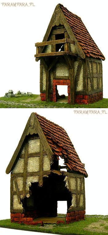 Buildings, Damaged, Granary, House, Mordheim, Ruined, Ruins, Storage, Storing, Terrain, Town, Village, Warhammer Fantasy