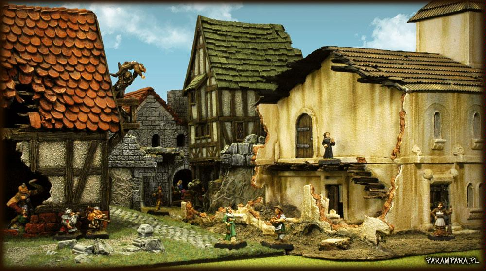 Buildings, City, Crowd, Mordheim, People, Ruin, Ruined, Ruins, Scene, Street, Streets, Terrain, Tile, Tiles, Town, Wall, Walls