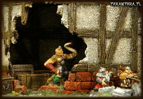 Buildings, City, Conversion, Damaged, Drinking, Dwarves, Hideout, Hole, Mordheim, Mutant, Ruin, Ruined, Ruins, Scene, Street, Streets, Terrain, Town, Victim