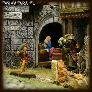Buildings, City, Inn, Mordheim, Musician, People, Player, Ruin, Ruined, Ruins, Scene, Sorcerer, Street, Streets, Terrain, Town
