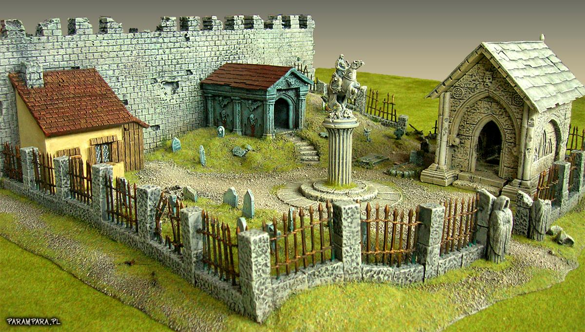 Buildings, City, Creepy, Crypt, Fear, Grave, Graves, Graveyard, Memorial, Monument, Mordheim, Ruin, Ruined, Ruins, Scene, Stone, Terrain, Town, Village, Wall, Warhammer Fantasy