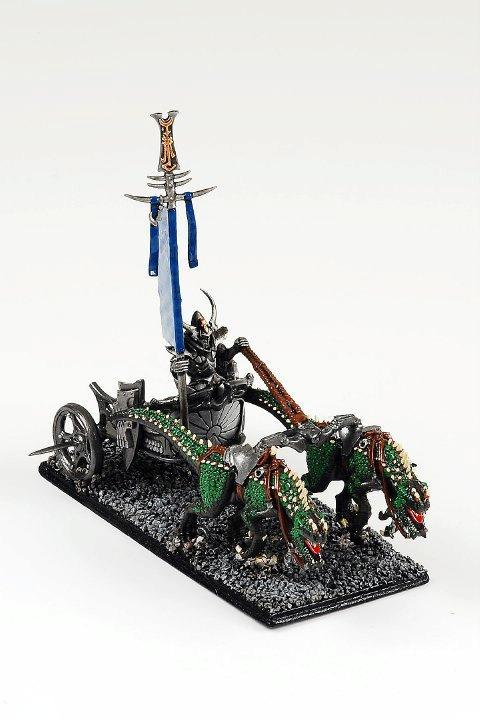 Cold One Chariot, Conversion, Dark Elves, Warhammer Fantasy