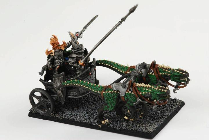 Cold One Chariot, Conversion, Dark Elves, Warhammer Fantasy