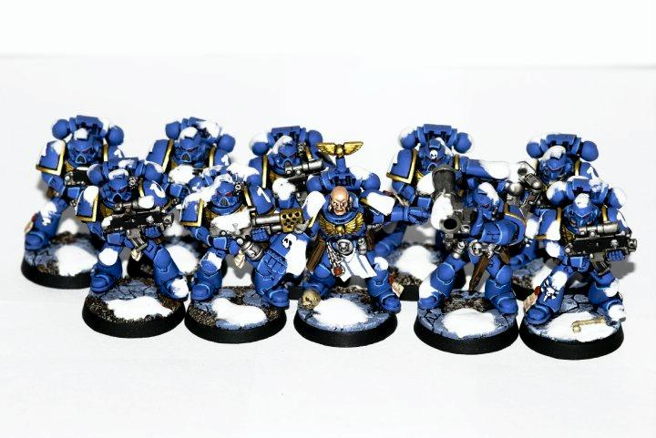 Space Marines, Tactical Squad, Ultramarines, Warhammer 40,000