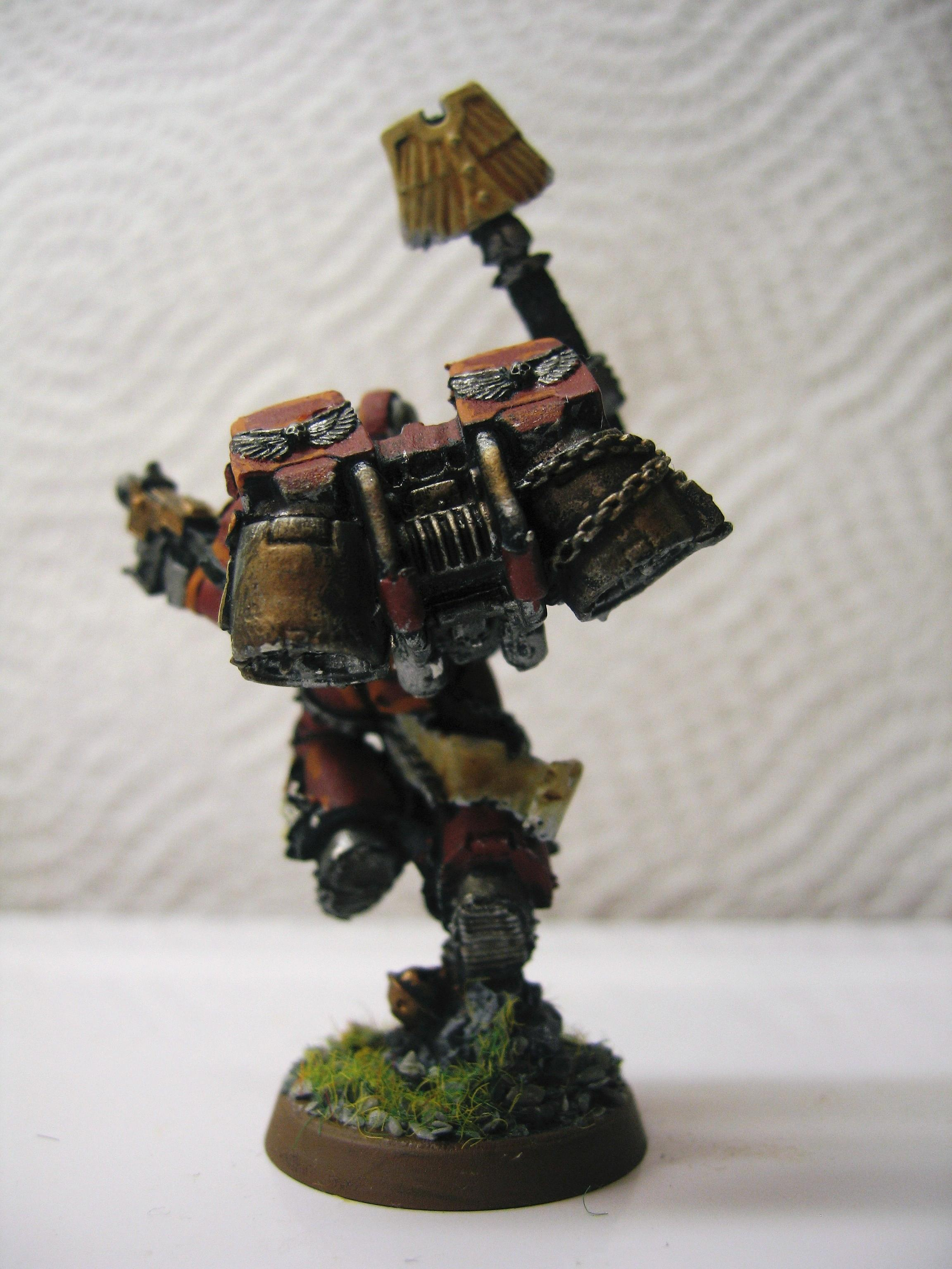 Chaplain, Dawn Knights, Models, Painted, Red, Space Marines, Warhammer 40,000