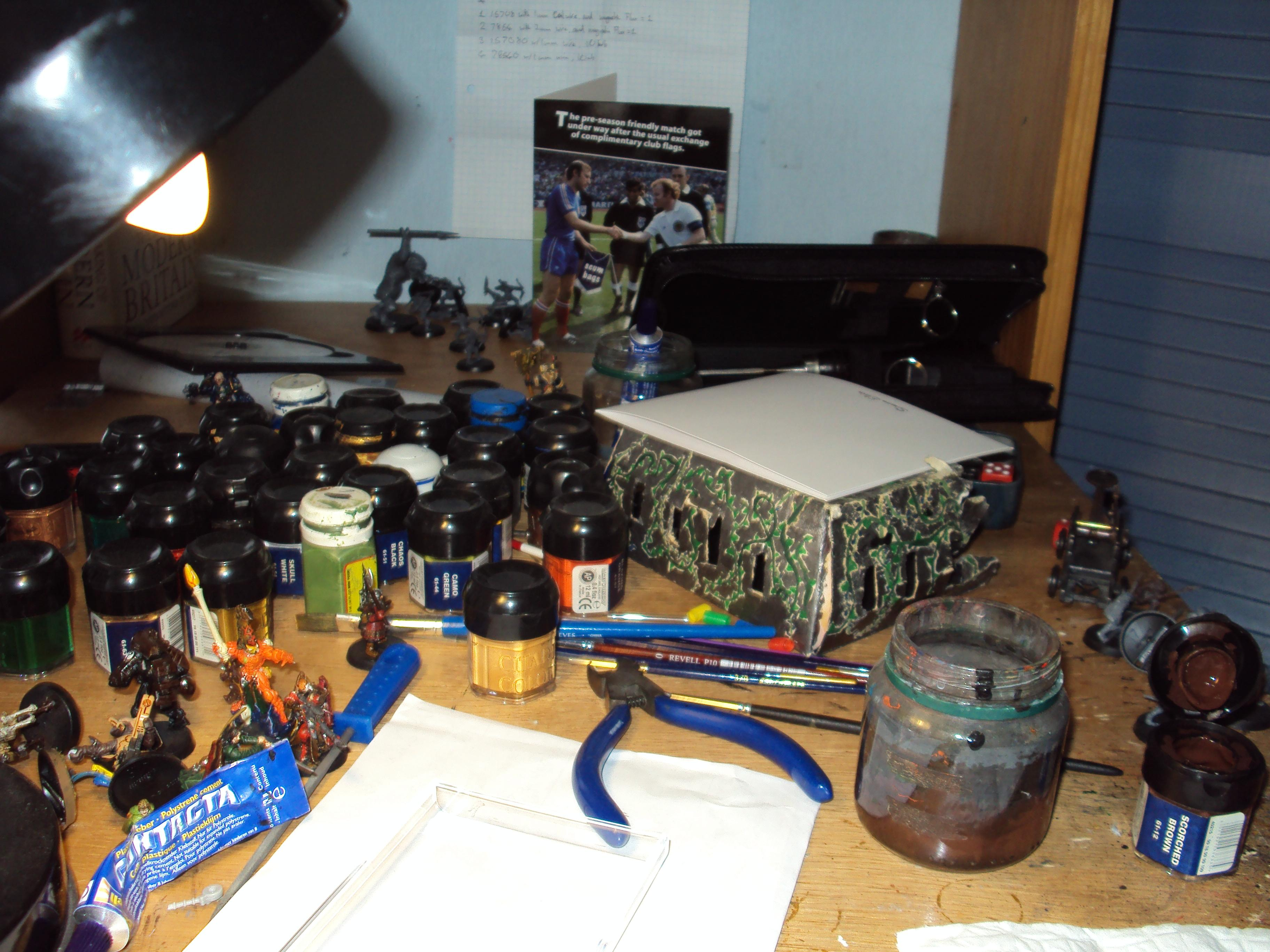 Hobby Area, Cluttered I know, but it serves its purpose