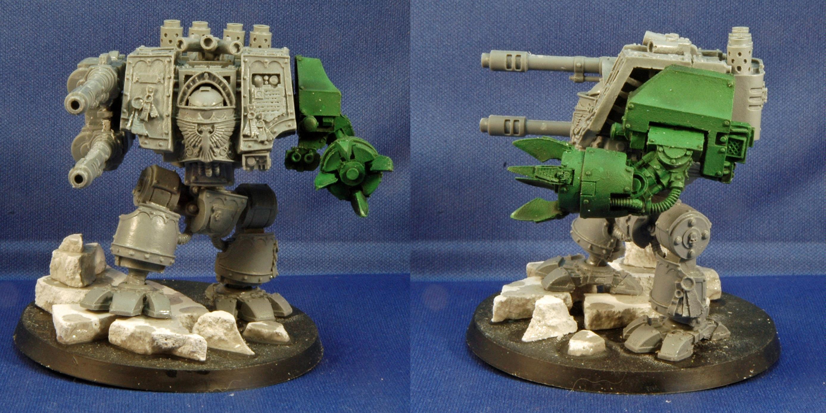Dreadnought, Mantis Warriors, Space Marines, Warhammer 40,000, Work In Progress