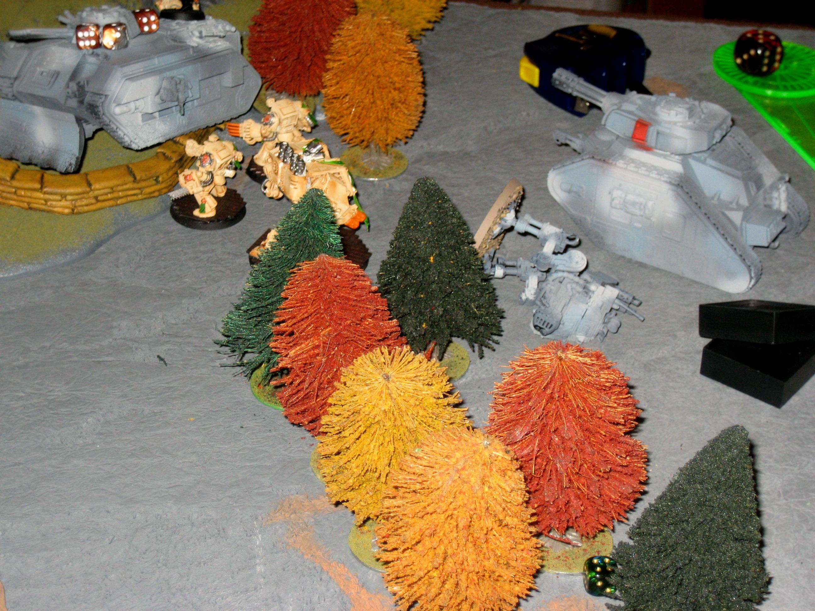 Terminators attacking a chimera