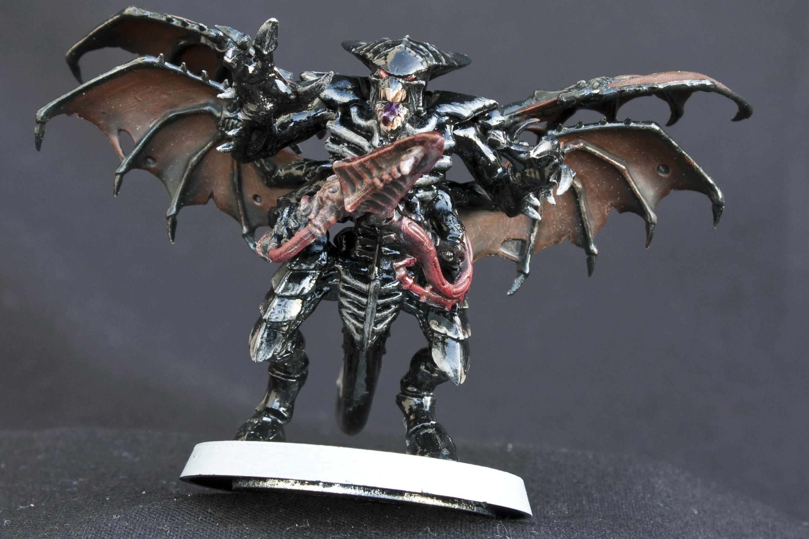 Black, Conversion, Glossy, Shrike, Shrikes, Tyranids, Warhammer 40,000, Winged