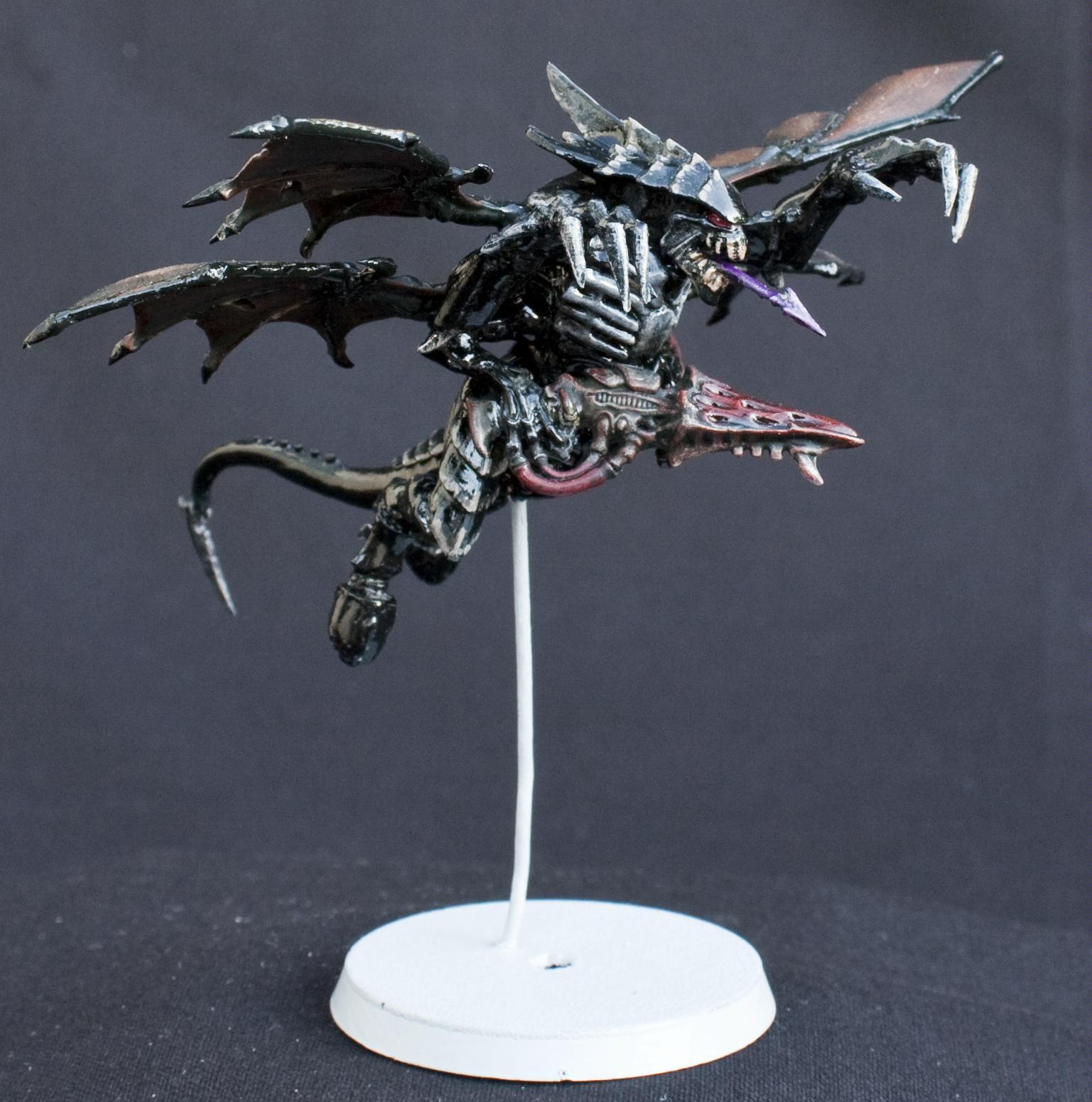 Black, Conversion, Flying, Glossy, Shrike, Shrikes, Tyranids, Warhammer 40,000, Winged