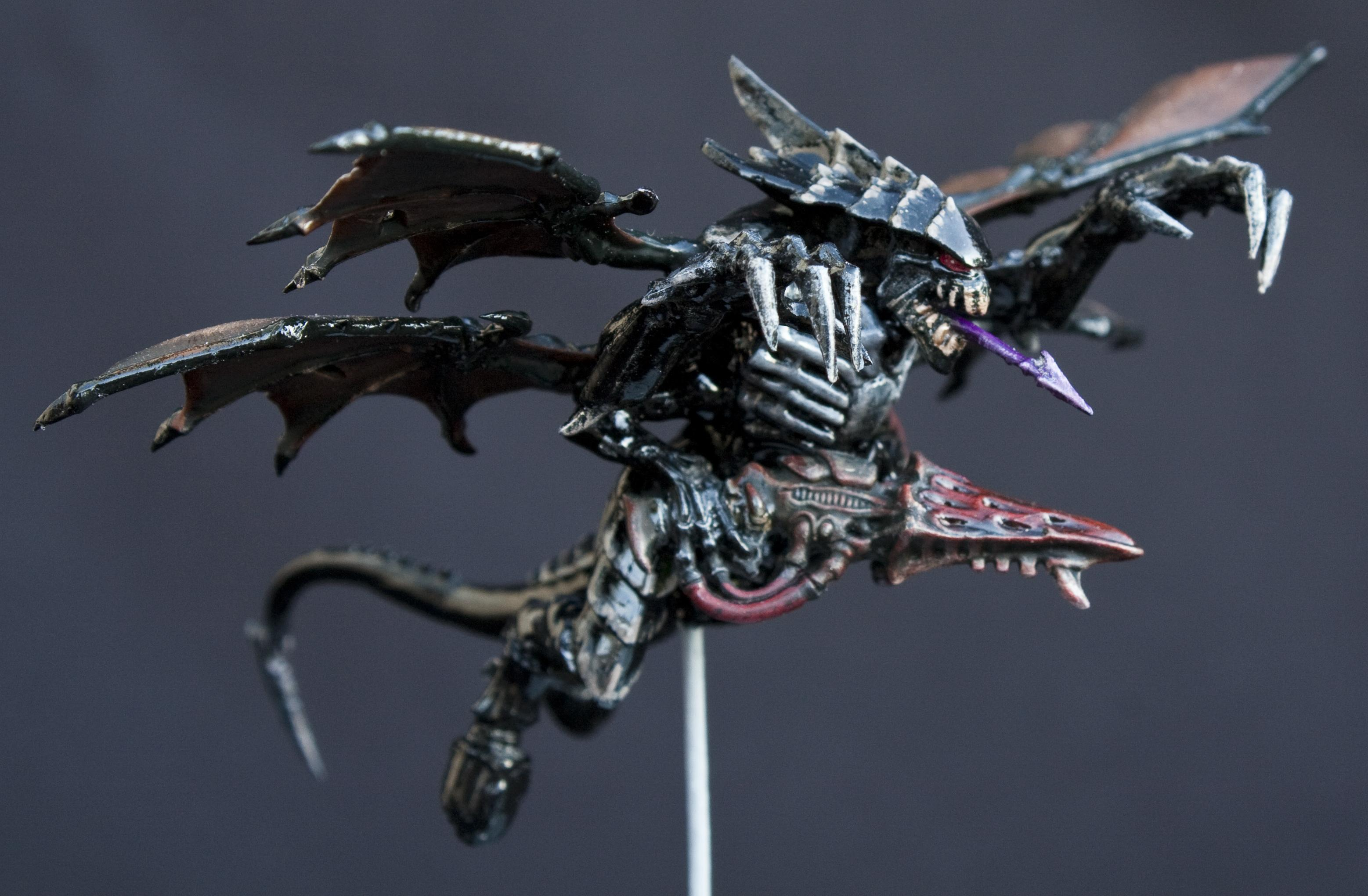 Black, Conversion, Flying, Glossy, Shrike, Shrikes, Tyranids, Warhammer 40,000, Winged