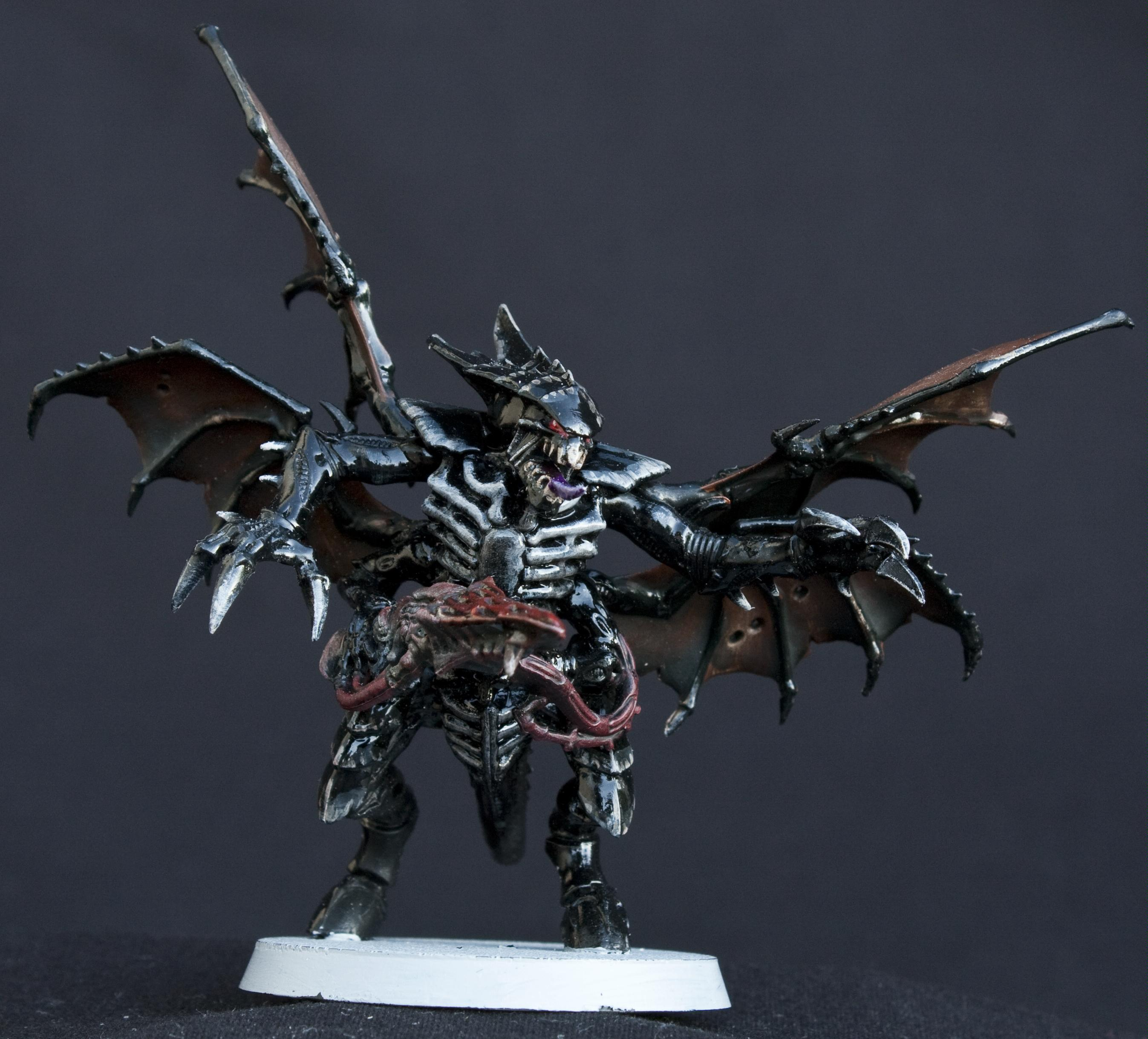 Black, Conversion, Glossy, Shrike, Shrikes, Tyranids, Warhammer 40,000, Winged