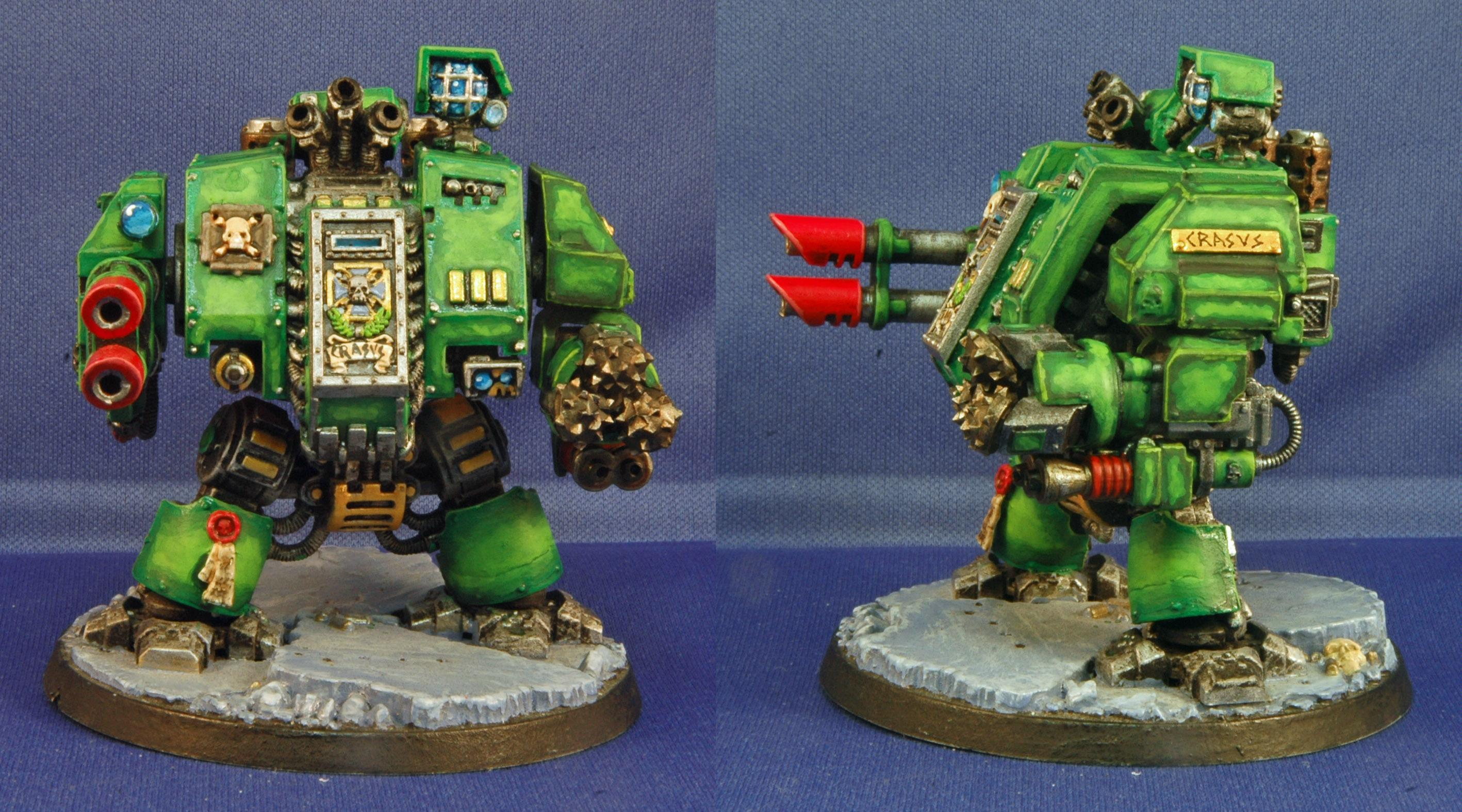 Dreadnought, Mantis Warriors, Space Marines, Warhammer 40,000