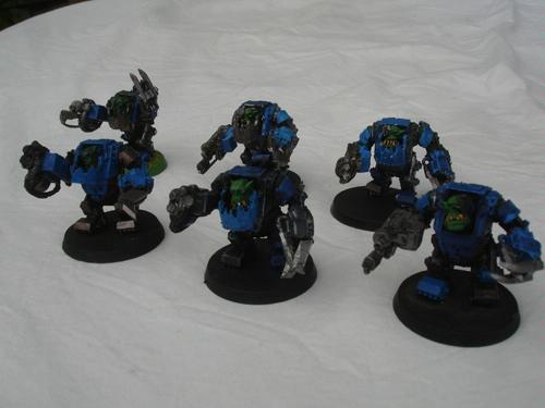 Dark, Mega-armor, Mega-armour, Nob, Orks
