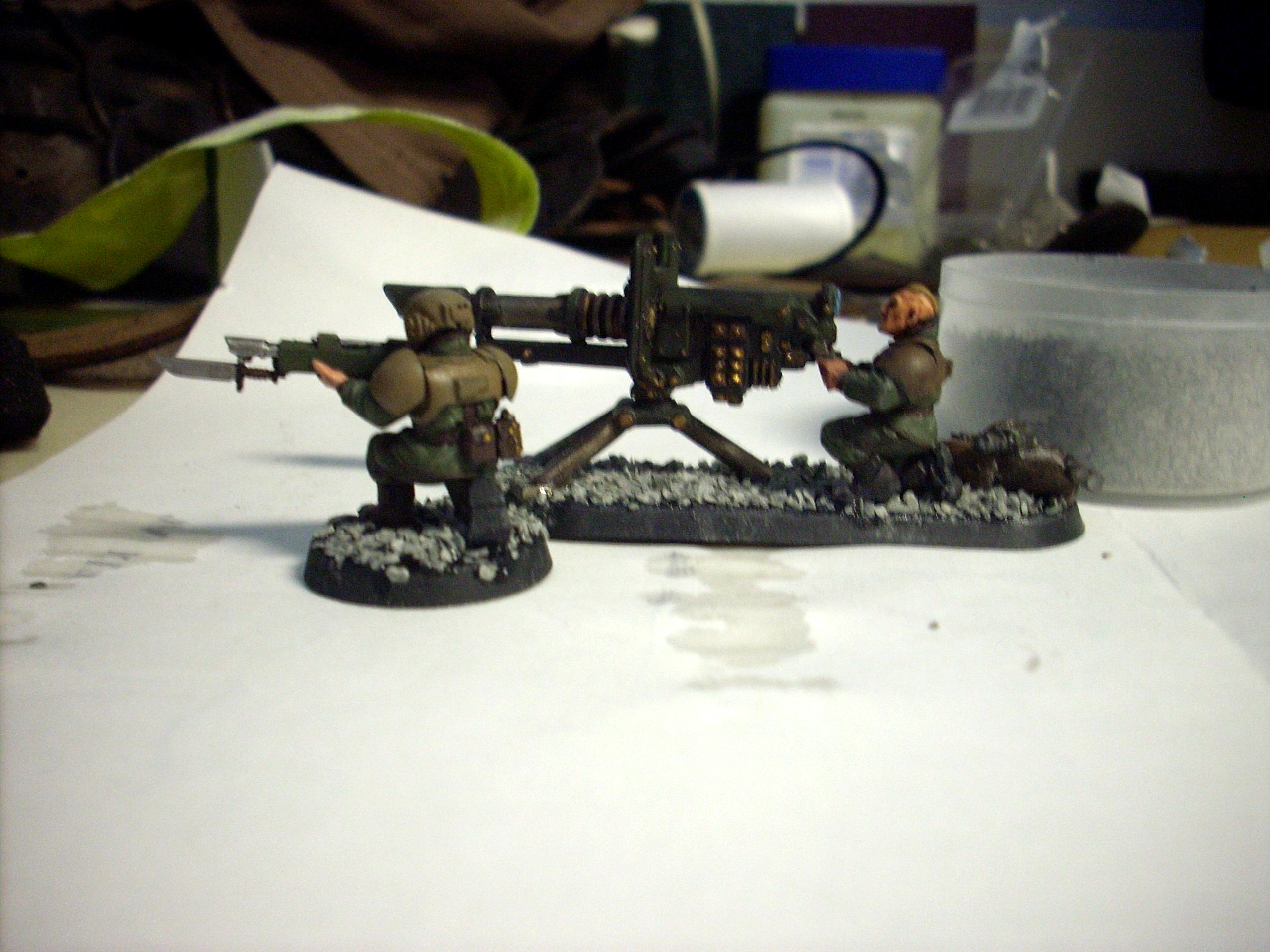 Heavy Weapon Team, Imperial Guard, Lascannon