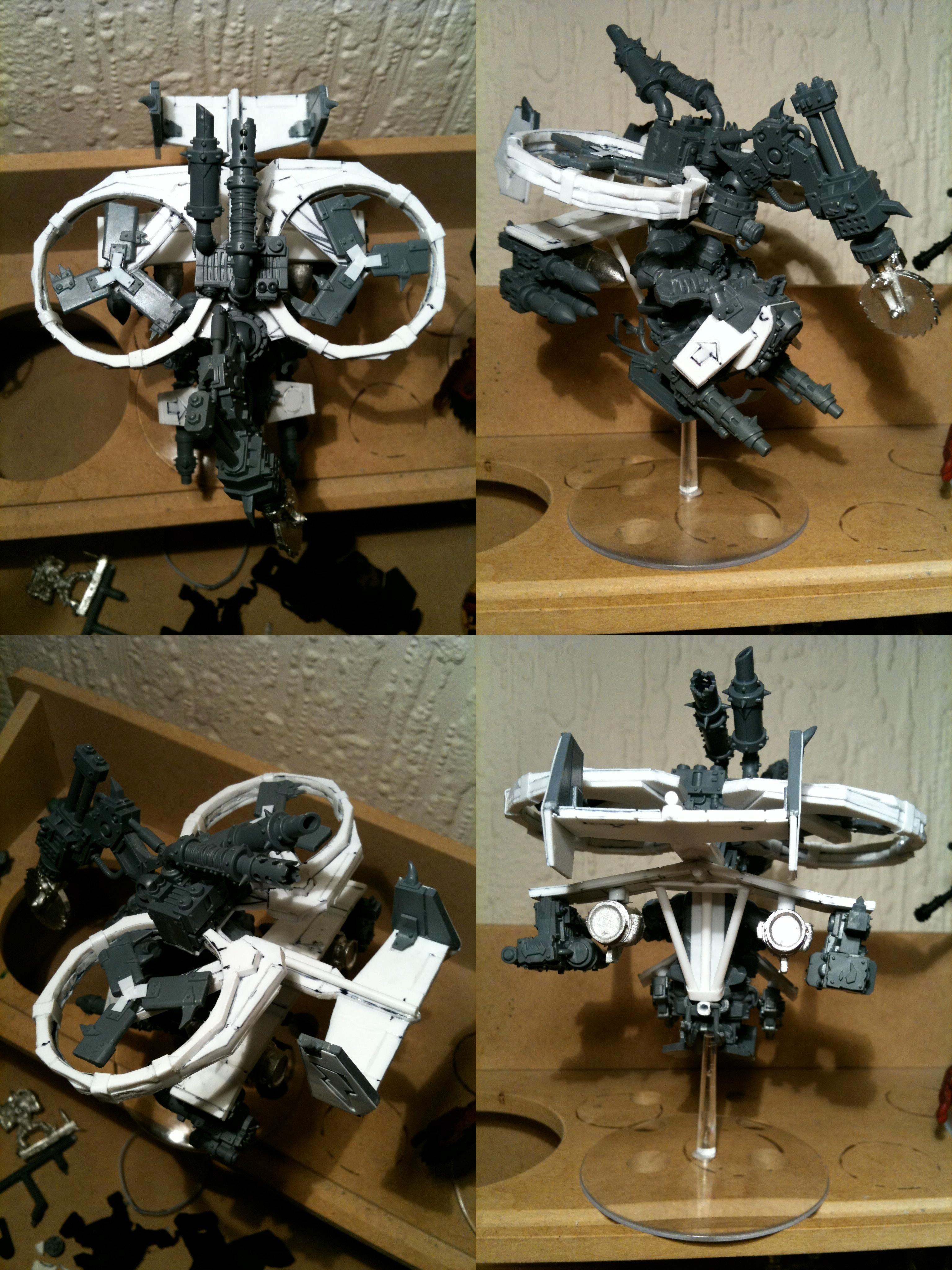 Buzzsaw, Da Dark Angelz, Deffkopta, Orks, Work In Progress