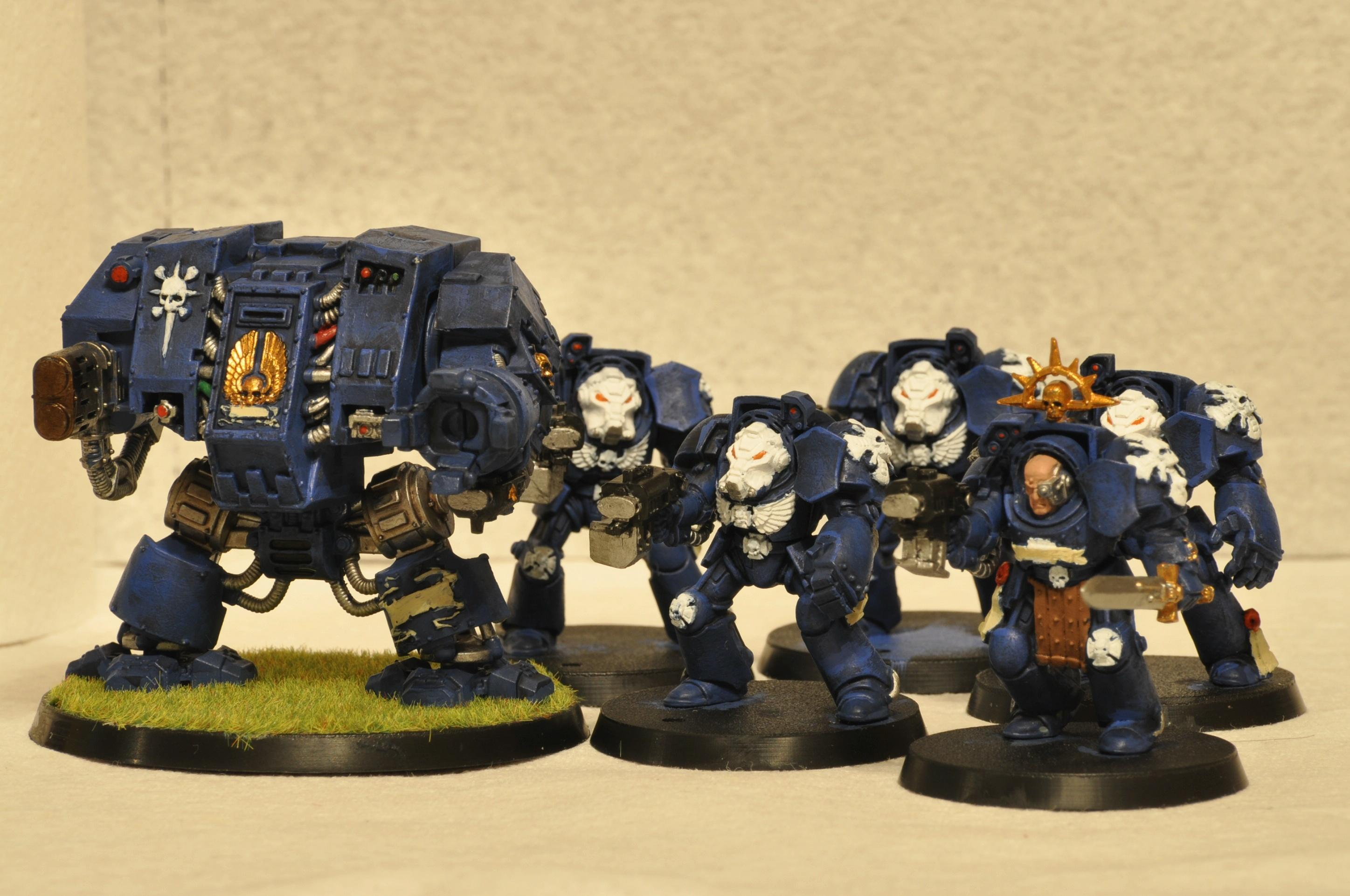 Dreadnought, Terminator Armor, Ultramarines