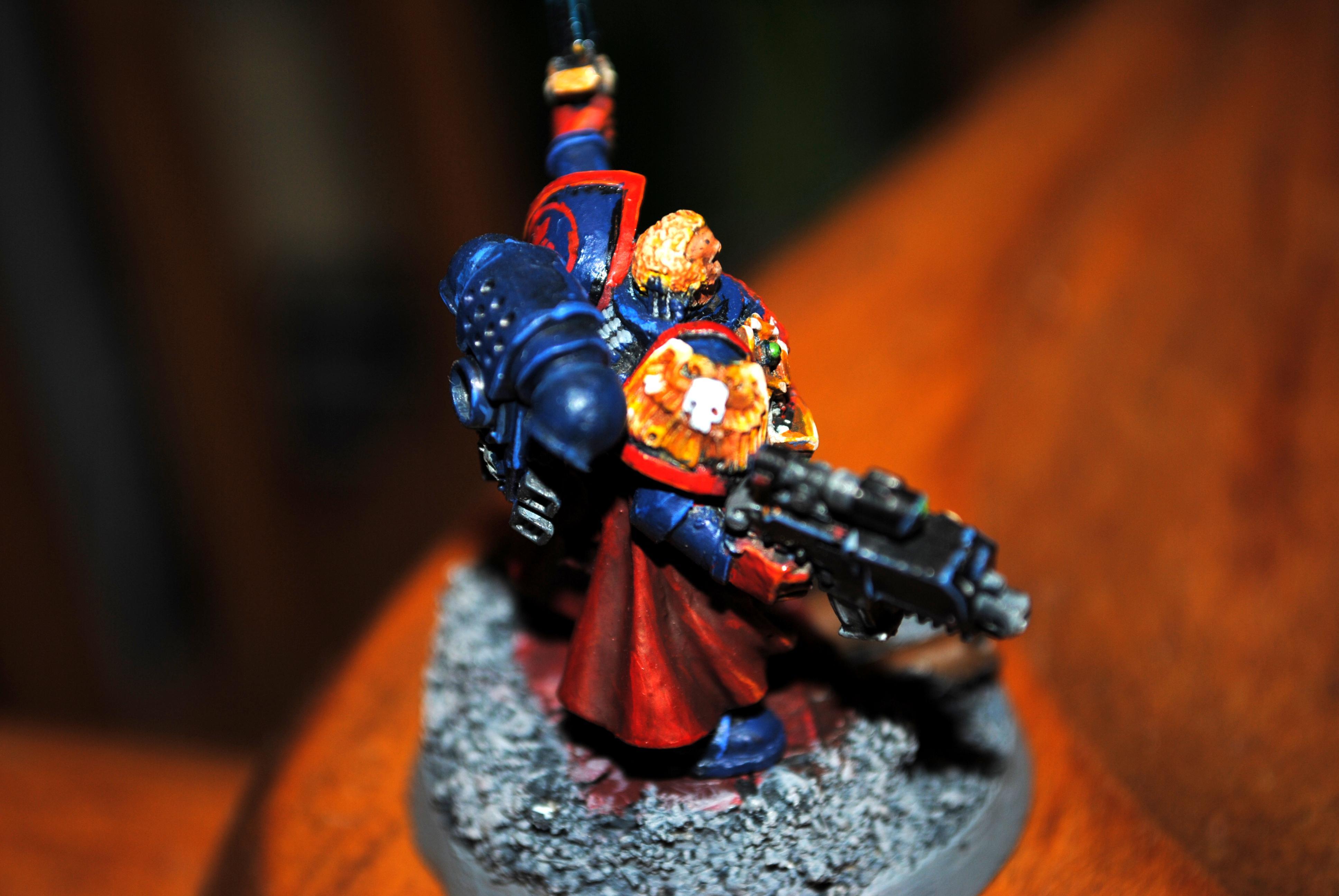 Captain, Crimson Fist, Non-Metallic Metal, Space Marines