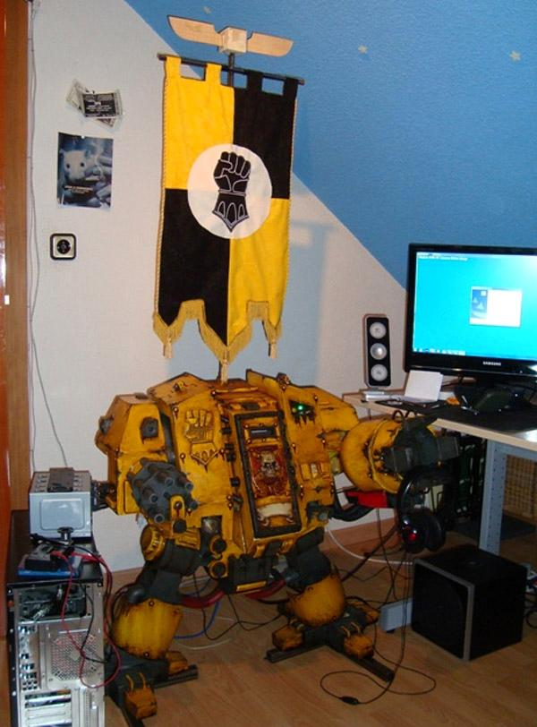 Awesome, Computer Case, Conversion, Dreadnought, Imperial Fists, Space Marines