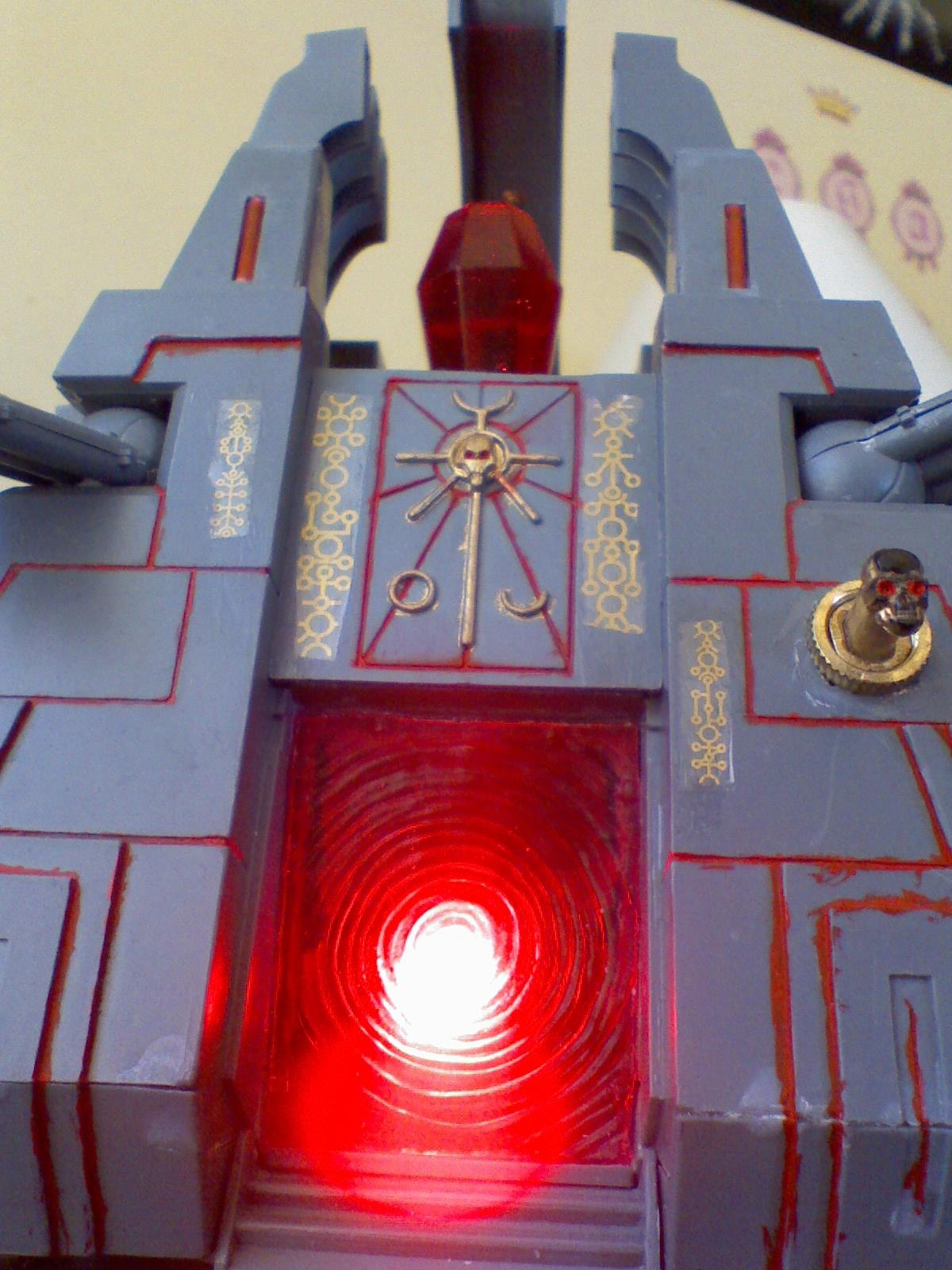 Light, Monolith, Necrons, Red, Warhammer 40,000