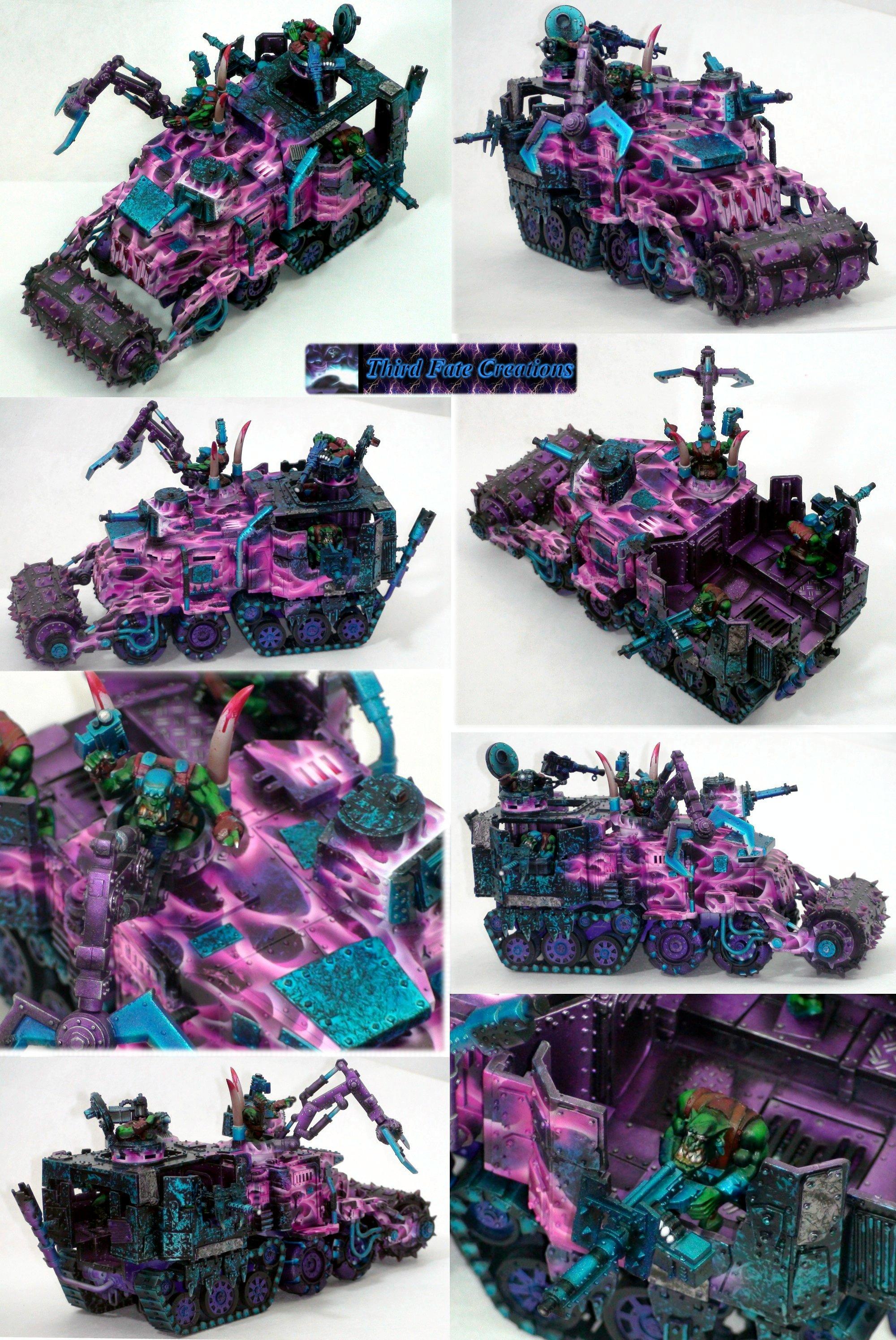Airbrush, Battlewagon, Orks, Pink