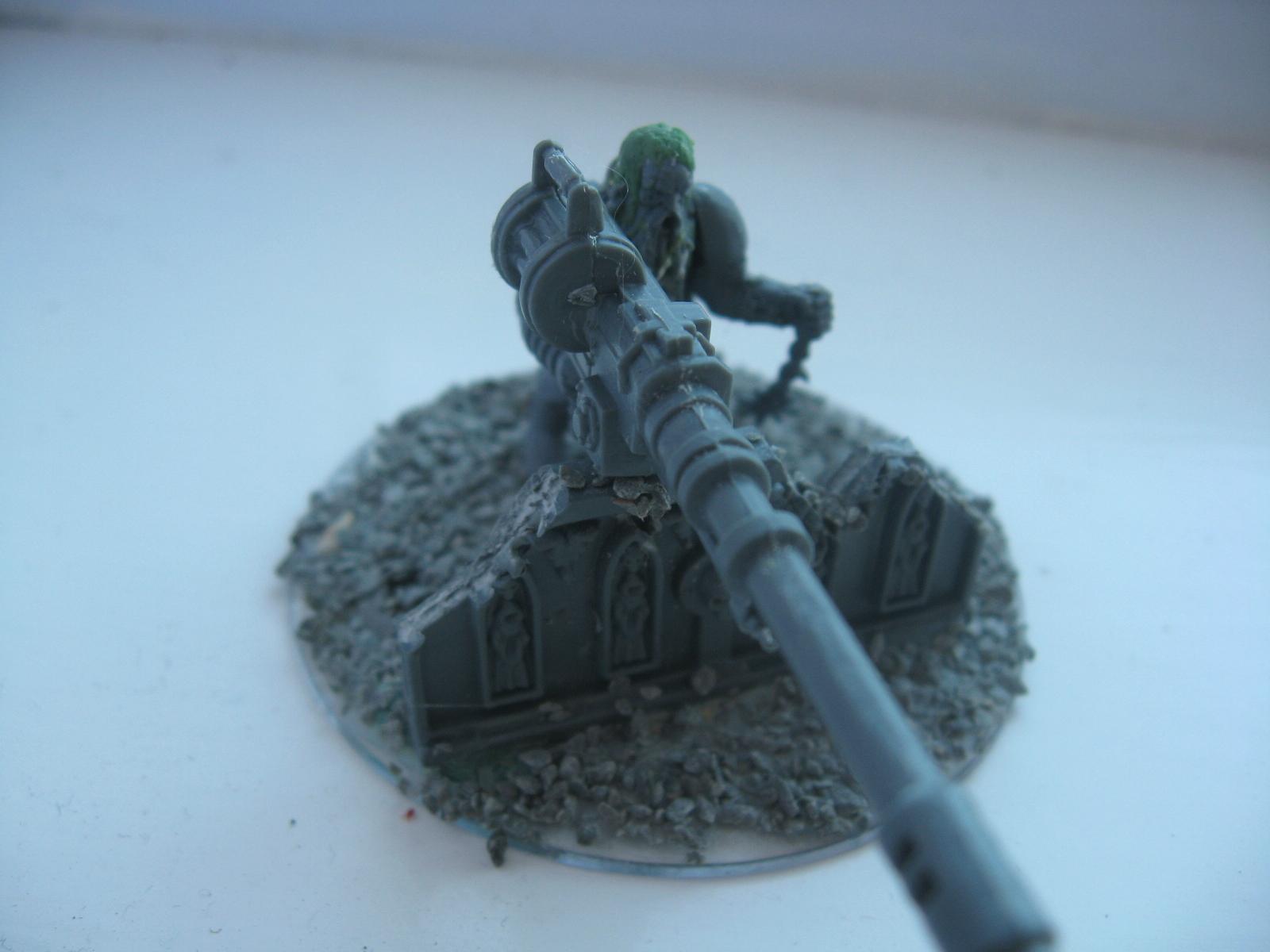 Autocannon, Cultist, Greenstuff, Sculpting