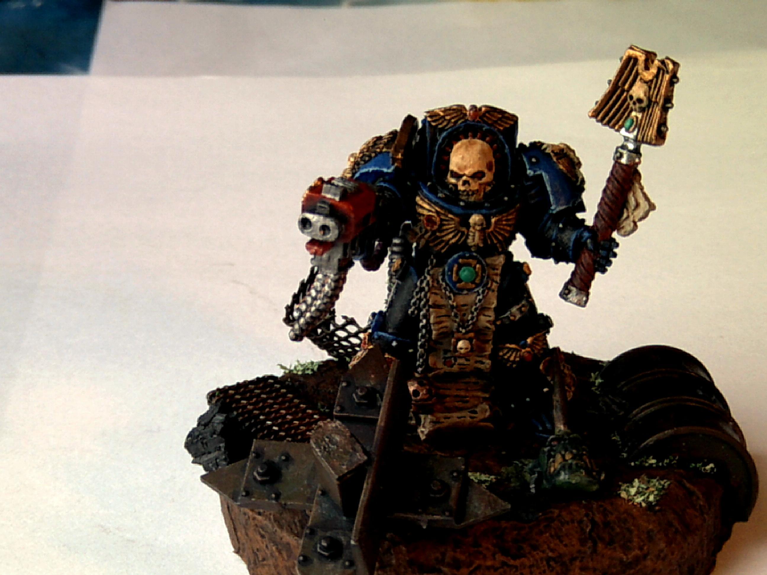 Chaplain, Space Marines, Terminator Armor, Ultramarines
