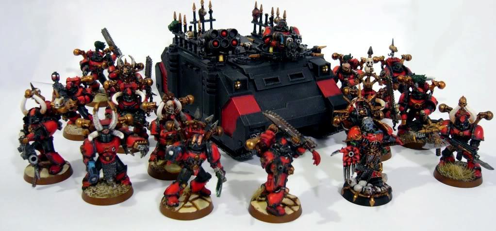 Chaos, Chaos Space Marines, Red Corsairs, Rhino