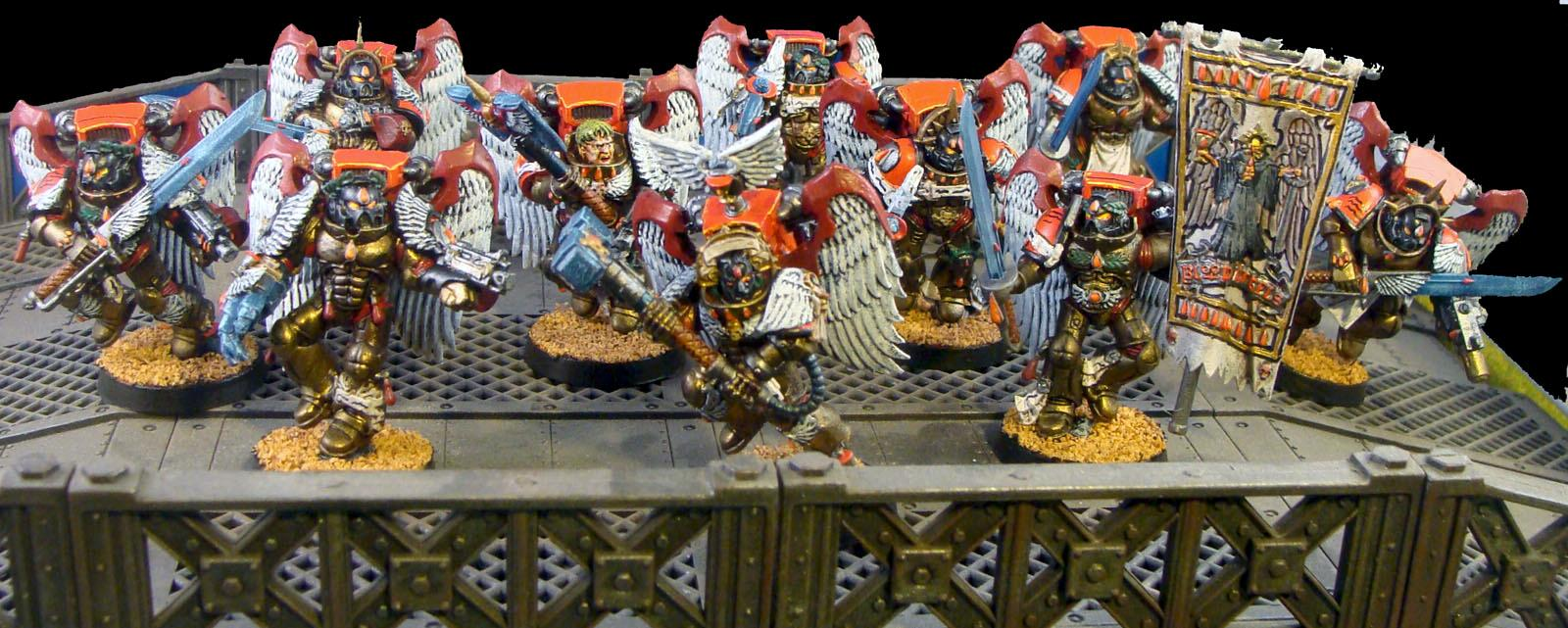 Blood Angels, Jump Pack, Sanguinary Guard, Space Marines, Warhammer 40,000, Winged