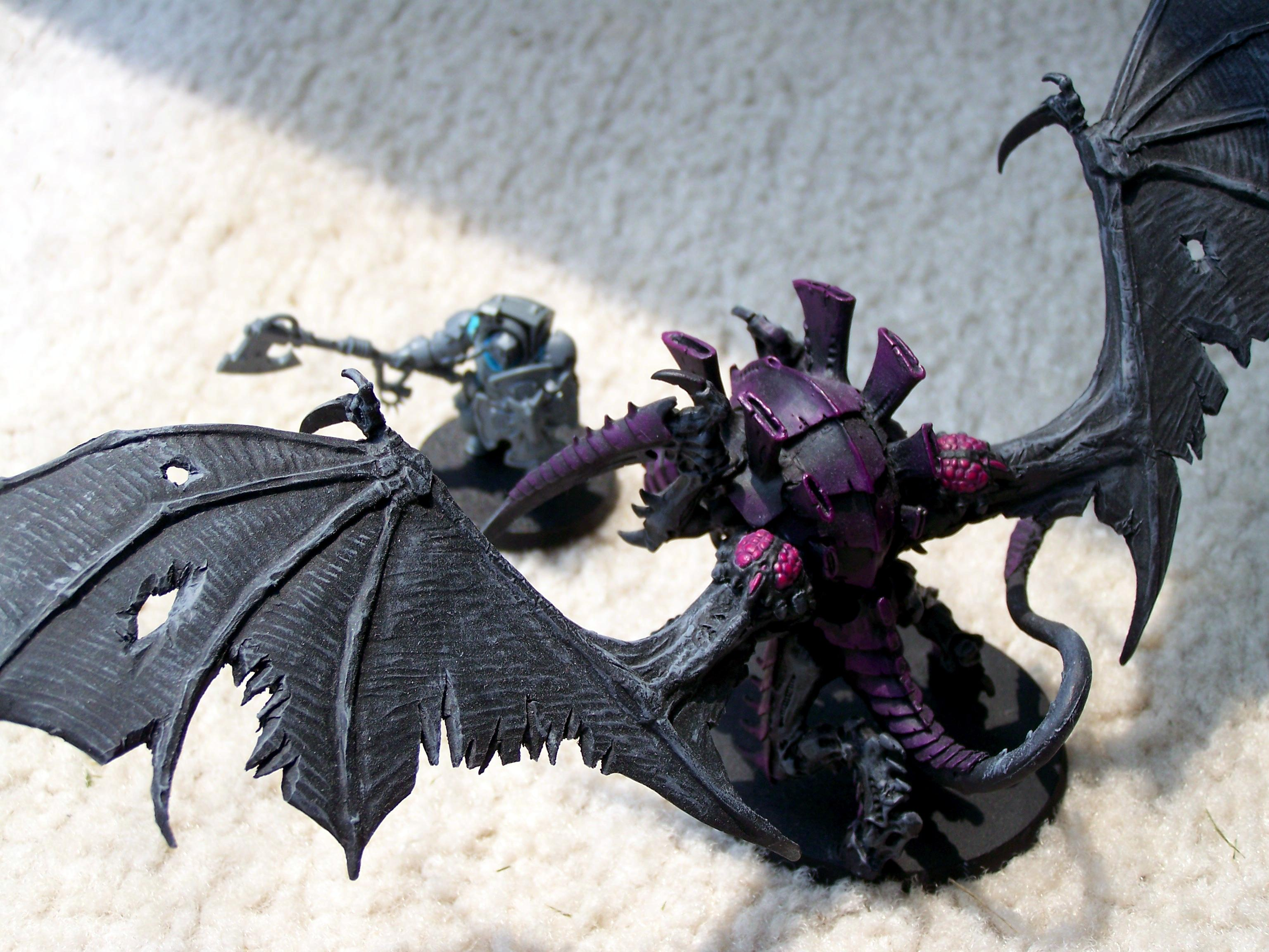 Axe, Flying, Hive Tyrant, Space Marines, Space Wolves, Terminator Armor, Tyranids, Winged, Wolf Guard