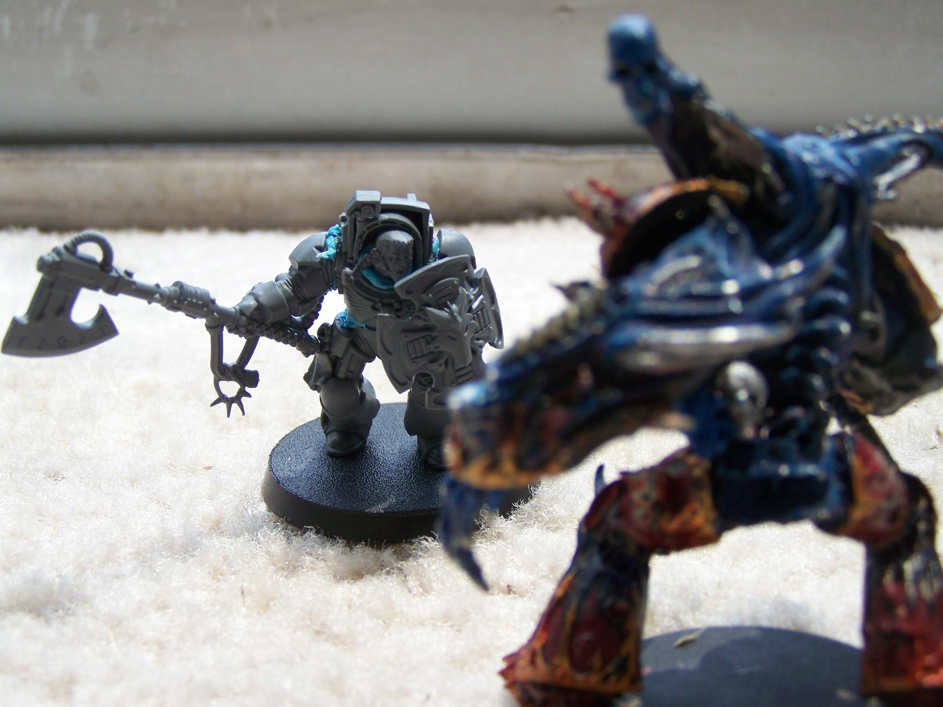 Axe, Chaos, Daemons, Flying, Hive Tyrant, Space Marines, Space Wolves, Terminator Armor, Wolf Guard