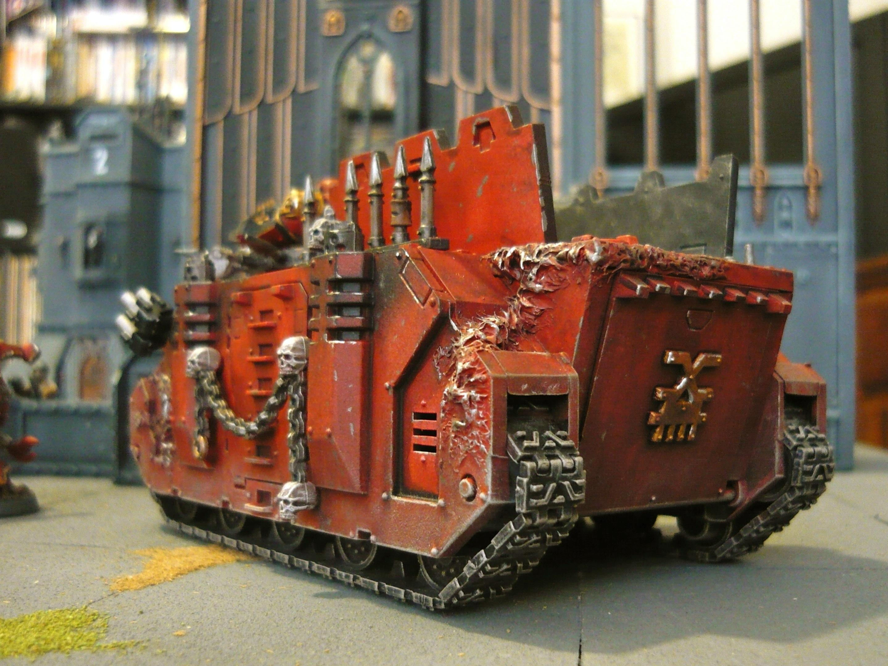Berseker, Caos Rhino, Chaos, Chaos Rhino, Khorne, Renegade, Space Marines, Warhammer 40,000