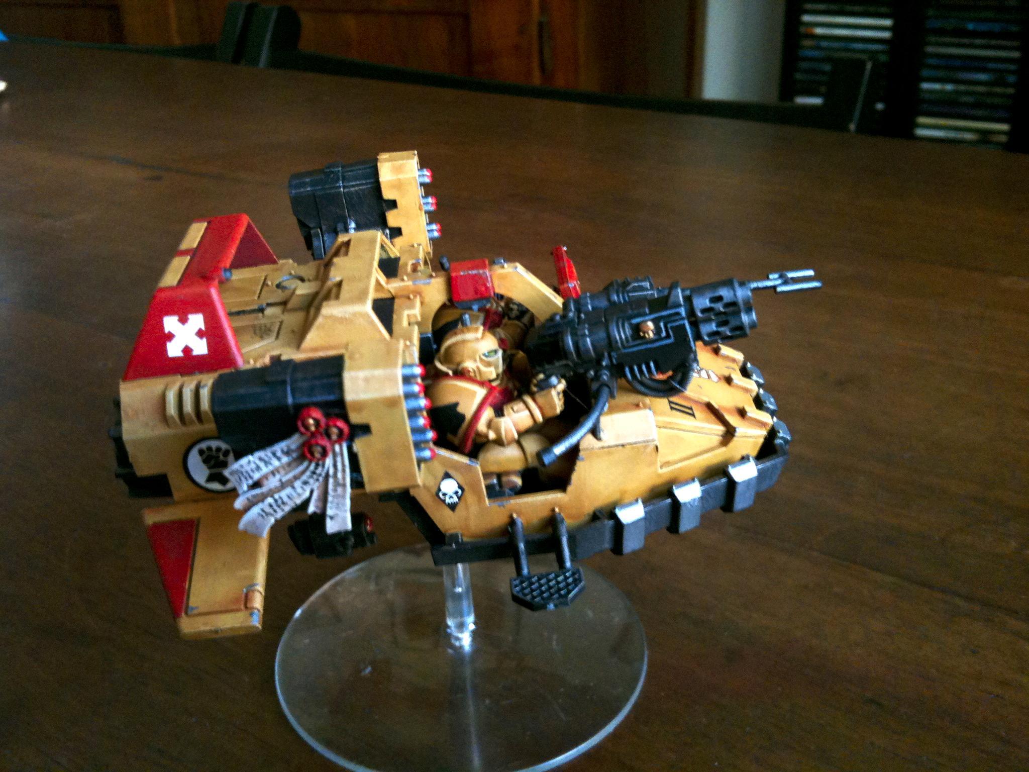 Imperial Fists, Land, Land Speeder, Space, Space Marines, Speeder, Techmarine, Typhon, Warhammer 40,000