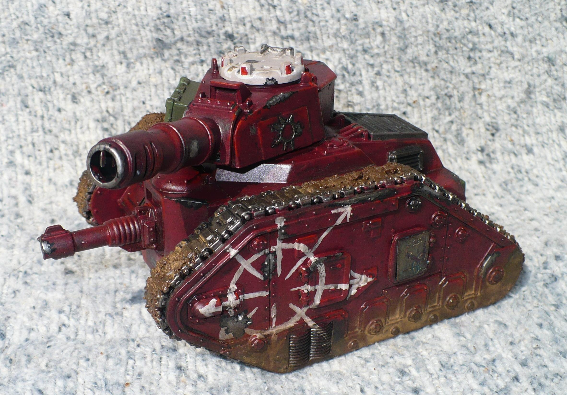 Chaos, Leman Russ, Lost And The Damned, Painted, Renegade, Tank, Traitor Guard, Warhammer 40,000